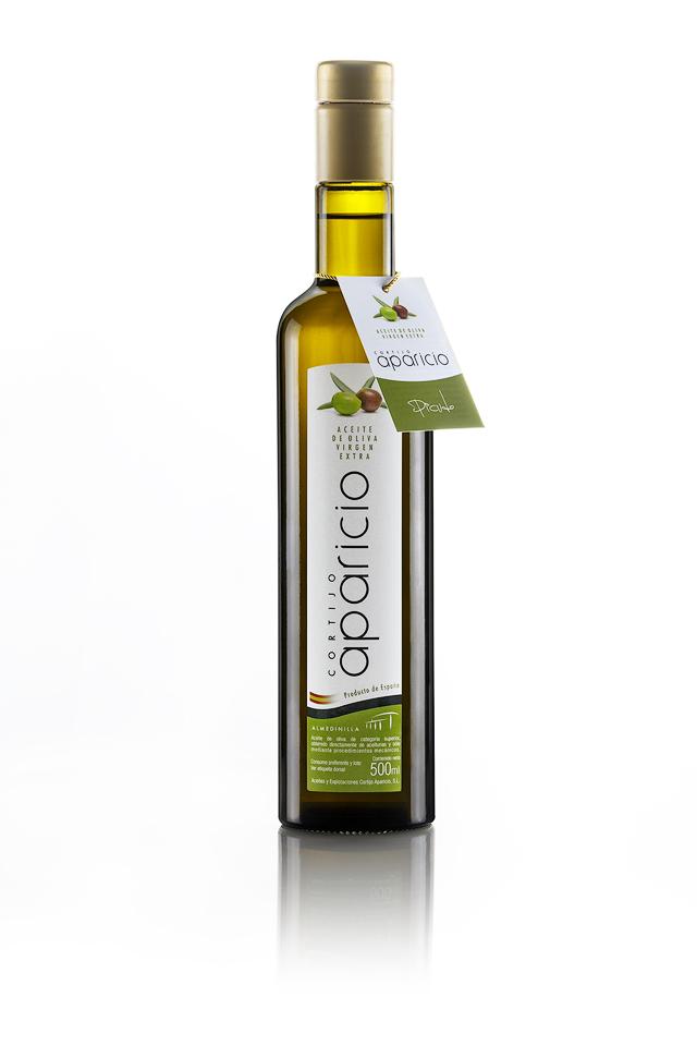 Aceite de Oliva</br>Virgen Extra </br>variedad Picudo</br>12 Envases de cristal de 500 ml (6L)