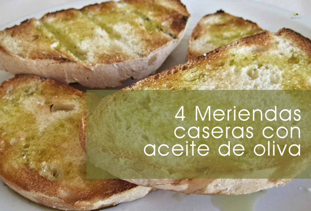 4 meriendas caseras con aceite de oliva