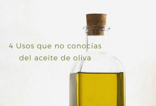 4 Usos que no conocías del aceite de oliva
